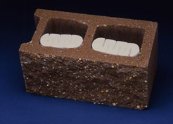 Universal Inserts for Concrete Masonry Units